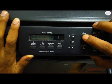 How To Clean Brother Inkjet Printer Head , HOW TO Resolve Colour Print Not Good Brother DCP-J100