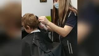 Подстричь мальчика Сделать детскую стрижку в Броварах Анна Шпрингель салон красоты La Familia