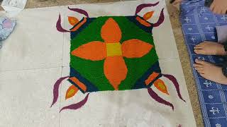 See how my daughters created #rangoli  this #diwali | #diwalispecial