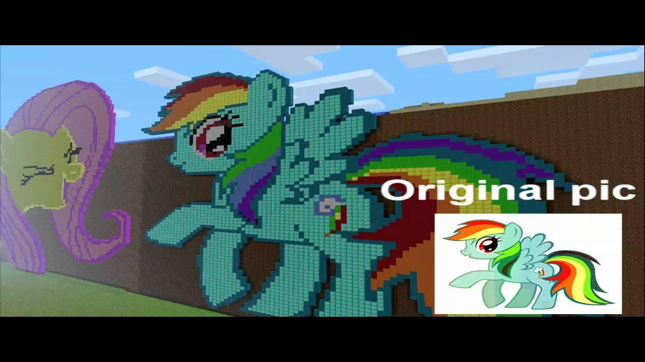 Minecraft Pixel Art 3 Rainbow Dash