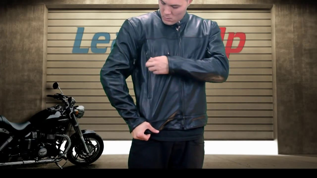 Xelement Men S Premium Buffalo Leather Motorcycle Jacket At