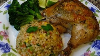 Drunken Chicken and Mexican Style Couscous Recipe