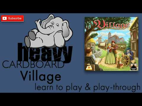 Village (w/Inn & Port exp.) 4p Teaching, Play-through, & Roundtable discussion by Heavy Cardboard