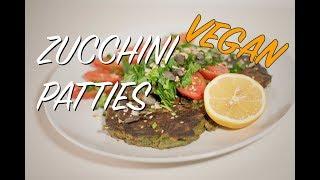 Vegan Zucchini Patties with smoked Tofu -  for Fitness & Health