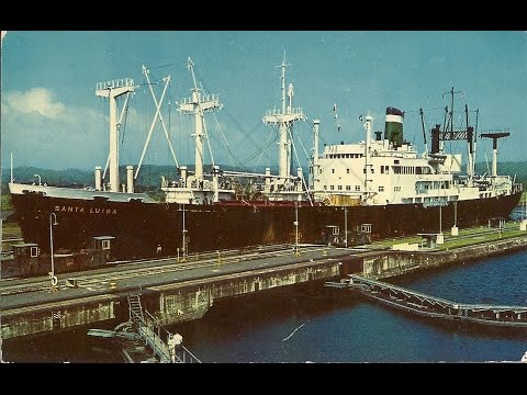 Slides of Grace Line Combination Passenger/Cargo Ship in the 1950s