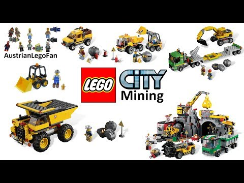 All Lego City Mining / Gold Mine Sets 2012 - Lego Speed Build Review