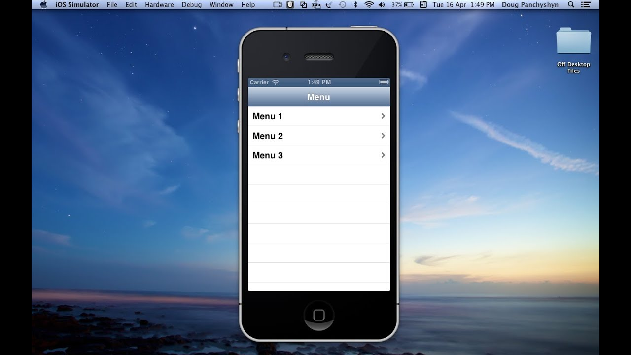 Tutorial to link table view cells to views without code in for Xcode 6 tableview