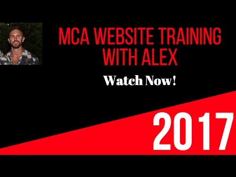 Alex Haney  MCA training website Funnel ! 🚀