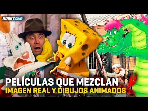 Mejores películas que mezclan dibujos animados y acción real