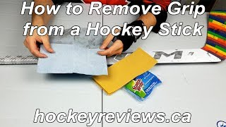 How to Remove Grip from a Hockey Stick