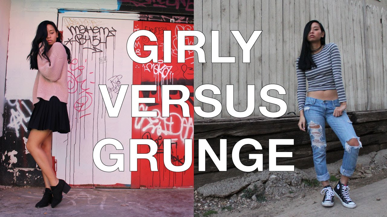 How I Style Girly VS Grunge Outfits
