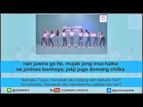 Easy Lyric TWICE - HEART SHAKER by GOMAWO [Indo Sub]