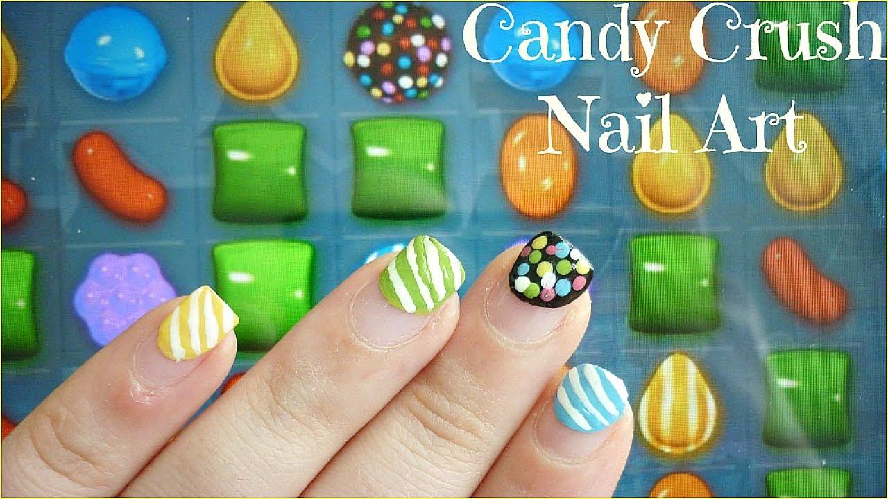Candy Crush Nail Art Youtube