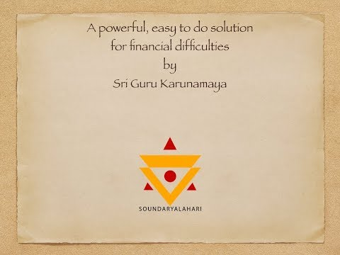 Powerful ritual to solve financial problems