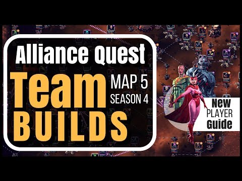 Beginners Guide: AQ Team Builds Map 5 - Season 4 | Marvel Contest of Champions