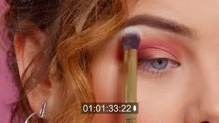EvelineInspiruje paleta RUBY GLAMOUR rubinowe smoky eyes