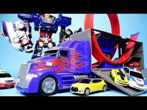 헬로카봇 과 옵티머스 프라임 범블비 챌린지 Transformers Optimus Prime challenge