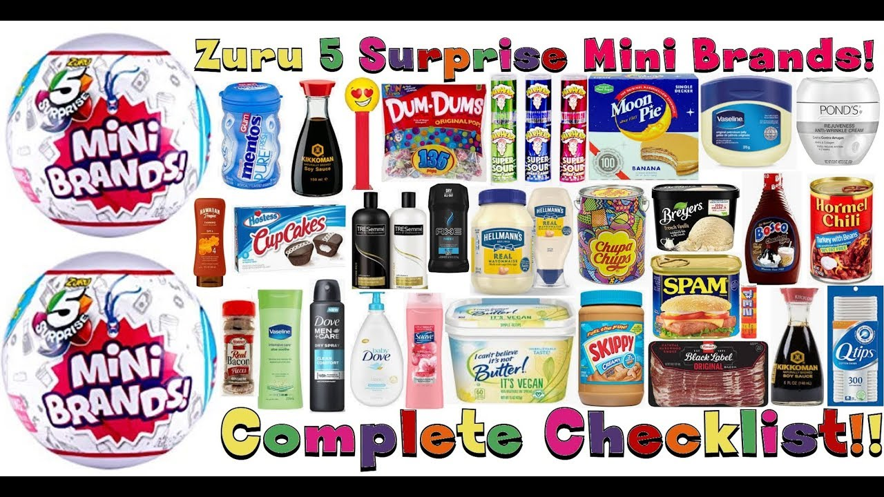 Zuru 5 Surprise Mini Brands Complete Checklist With Pictures
