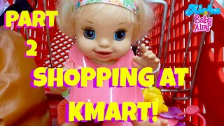 🛍 Vacation with Baby Alive Part 2! 🌺 Shopping at KMART With Layla (learns to potty) & Skye!