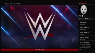 WWE 2k18 Universe mode Power Rankings for the week of 8\5\18