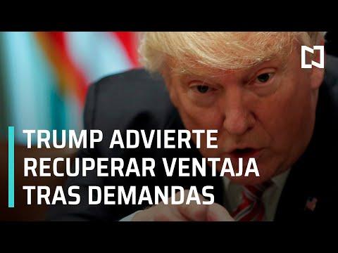 Trump advierte que recuperará su ventaja en las elecciones tras las demandas - Las Noticias