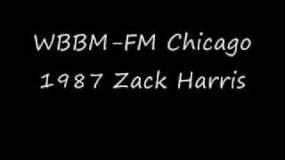WBBM-FM Chicago 1986 Zack Harris