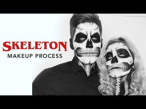 Skeleton Skull Makeup Process | Halloween Parties!