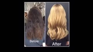 Окраска волос из брюнетки в блондинку(https://tr.im/azumi Cредство для восстановления волос AZUMI. Эффект уже после первого курса применения! Восстановлени..., 2016-09-26T19:06:56.000Z)