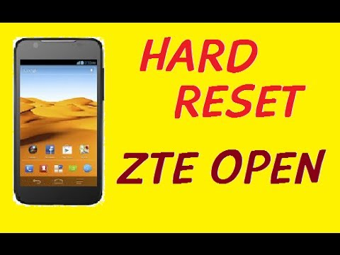 HOW TO HARD RESET WIPE DATA FACTORY RESET ZTE OPEN