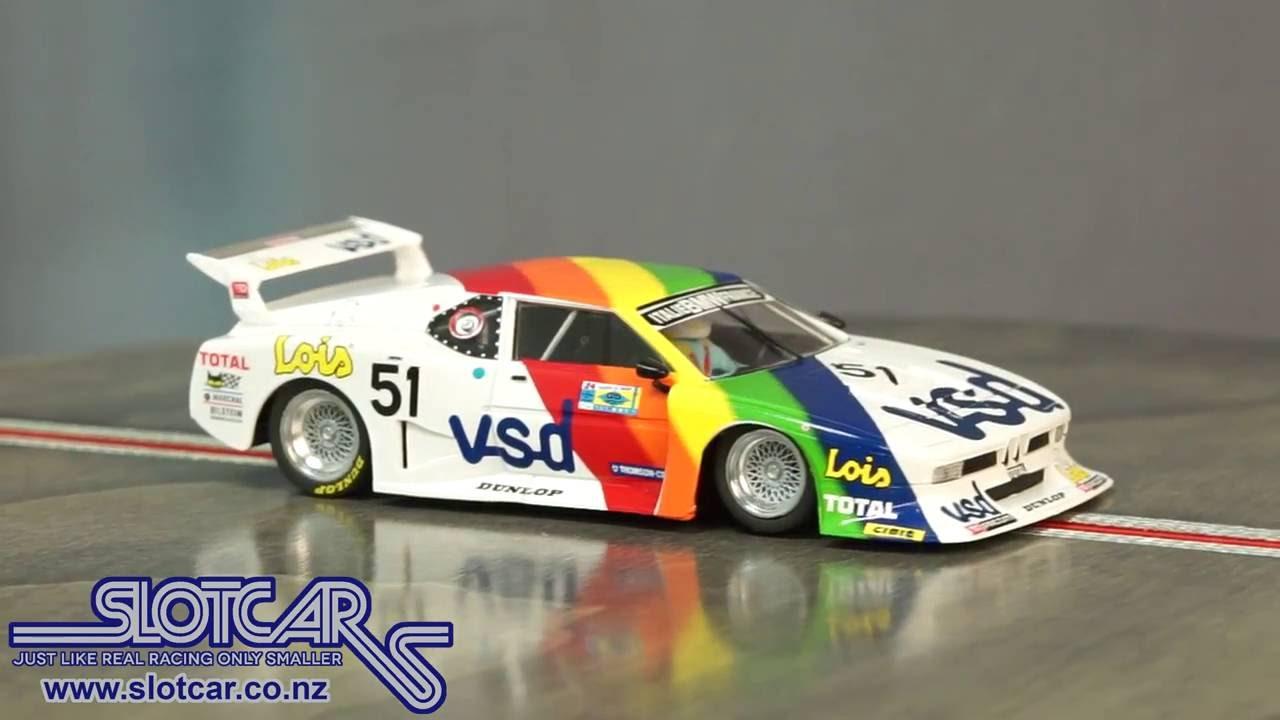 Sideways Slot Car Bmw M1 Group 5 Vsd 51 Slotcar Sw39 Youtube