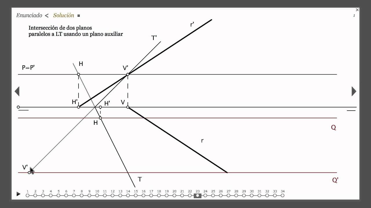 22 intersecci n entre 2 planos paralelos a la l nea de for Planos en linea