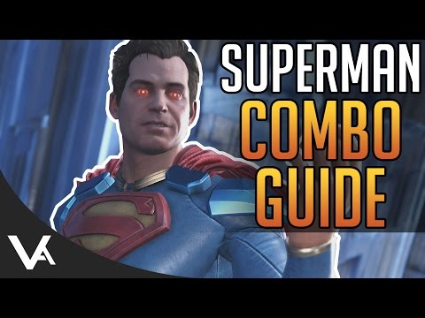Injustice 2 - Superman Combos! Easy Combo Guide For Beginners In Injustice 2