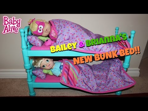 Baby Alive New Bunk Bed For Bailey And Brianna Bedtime