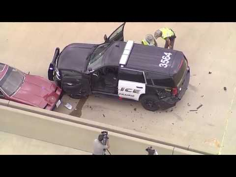 Grand Prairie Police officer lost in the line of duty after crash on Bush Turnpike