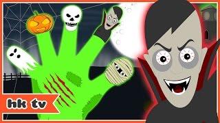 Scary finger family | scary nursery rhymes | kids songs | hooplakidz tv