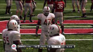 NCAA Football 11 Demo: Miami vs Ohio State - 1st Half (HD)
