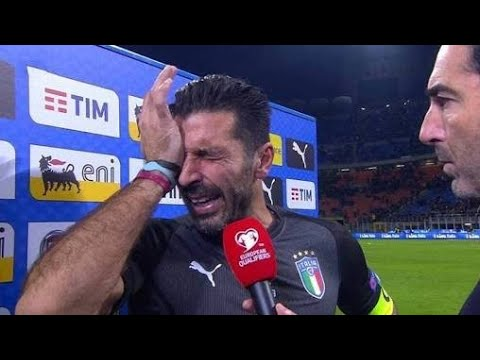 Buffon crying hard after italy and sweden match | italy not qualified to world cup 2018