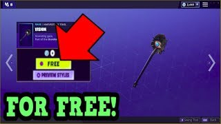 HOW TO GET VISION PICKAXE FOR FREE! (Fortnite Old Pickaxe)
