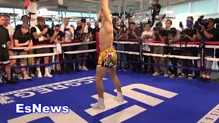 ((Must See)) Conor McGregor Unorthodox Warm Up Drill Points At Canvas  EsNews Boxing