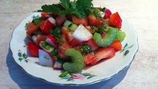 Салат с редиской Весенний. Мамулины рецепты
