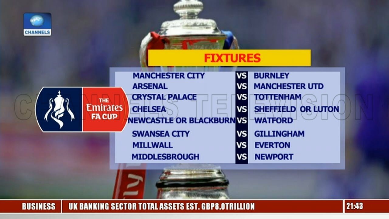 Fa Cup Fixtures Today And Tomorrow - Total Football