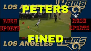 Rams' Marcus Peters fined over $13K for TD celebration