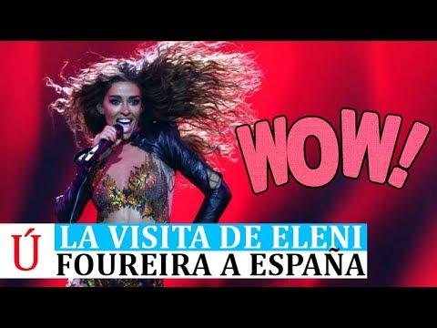 Eleni Foureira desembarca en  España tras brillar en Eurovisión 2018 con Fuego Fama a Bailar