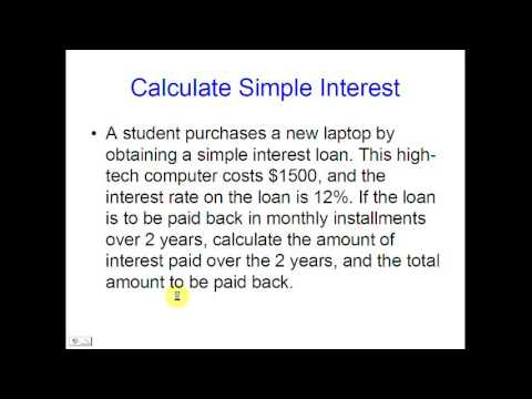 How to Calculate Interest Rates on Loans 2017 - Daily New Video