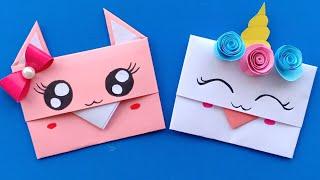 How to make a paper Envelope.Super Easy Origami Envelope Tutorial