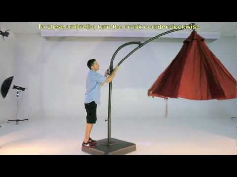 Kohls 10.5 Ft Solar Offset Umbrella
