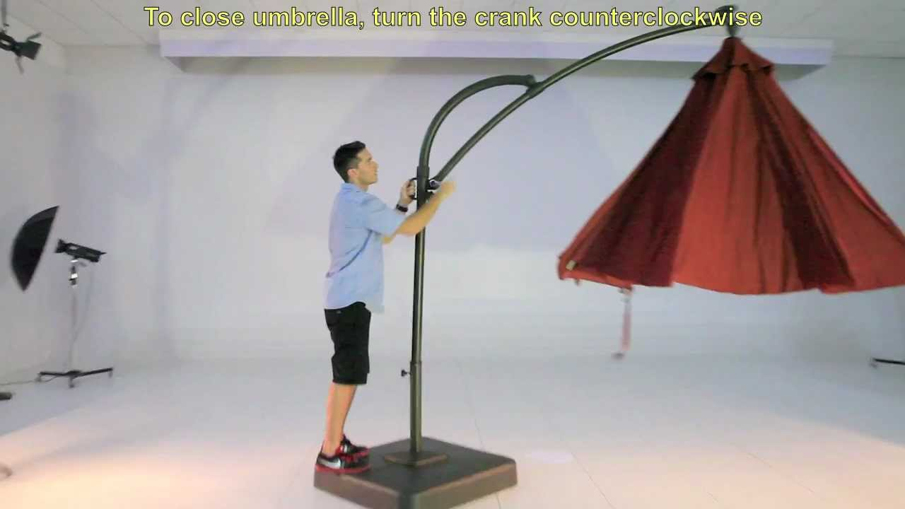 Bon Kohls 10.5 Ft Solar Offset Umbrella   YouTube