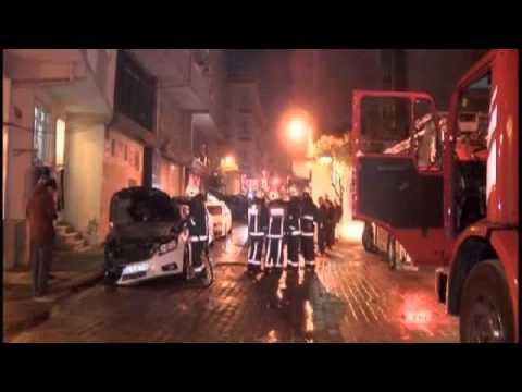 İstanbul'da 13 araç kundaklandı