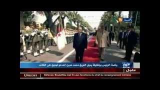 الفريق أحمد قايد صالح يشرف على مراسم تنصيب اللواء مناد نوبة قائدا جديدا للدرك الوطني