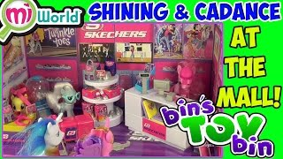 Shining Armor & Cadance at the Mall! MiWorld Playsets Review! by Bin's Toy Bin